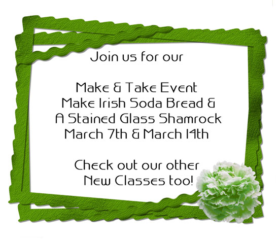 Join us for our Make & Take Event and upcoming classes!